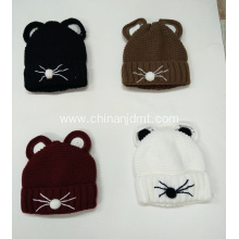 Cat Design Knitted Hat
